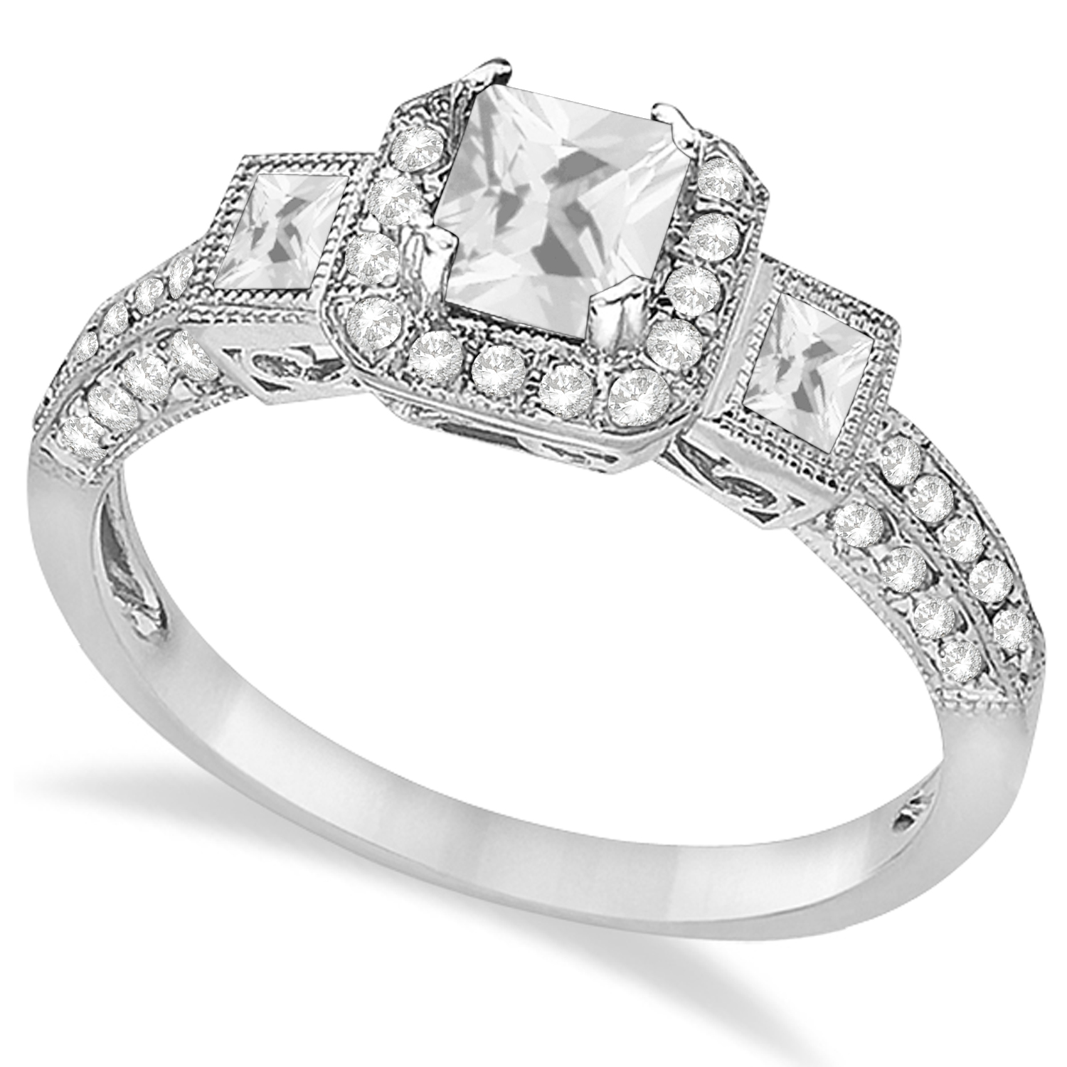 Diamond Engagement Ring 14k White Gold (1.35ctw)