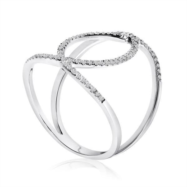 Marquise Diamond Fashion Ring 14k White Gold 0.22 ct