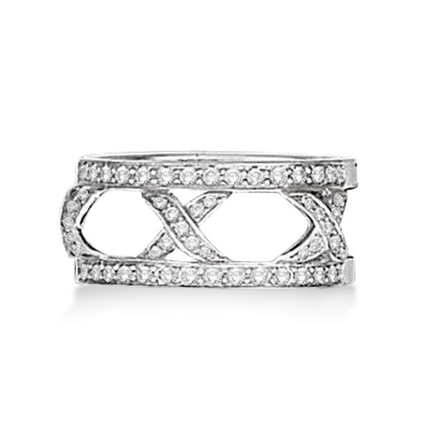 Hidalgo 3 X Shaped Diamond Ring Jacket 18k White Gold (0.45ct)