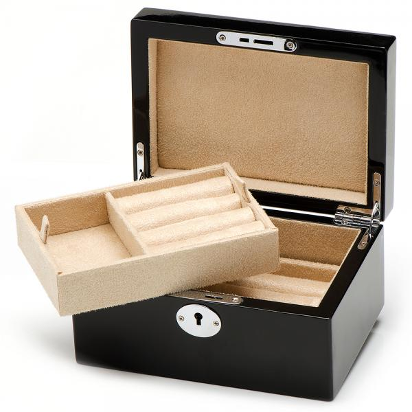Men 39 s valet box for cufflink jewelry with removable tray for Men s jewelry box for watches and cufflinks