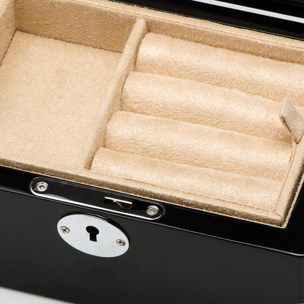 Men's Valet Box for Cufflink & Jewelry with Removable Tray and Lock