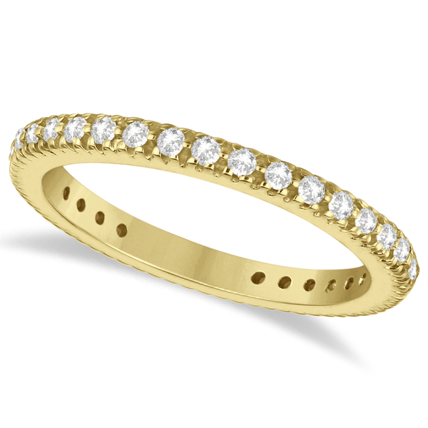 Pave Diamond Eternity Ring Anniversary Band 14K Yellow Gold (0.50ct)