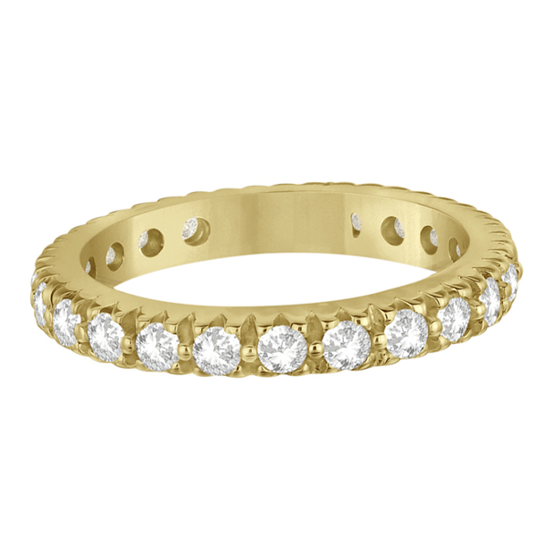 Pave Diamond Eternity Ring Anniversary Band 14K Yellow Gold (1.01ct)