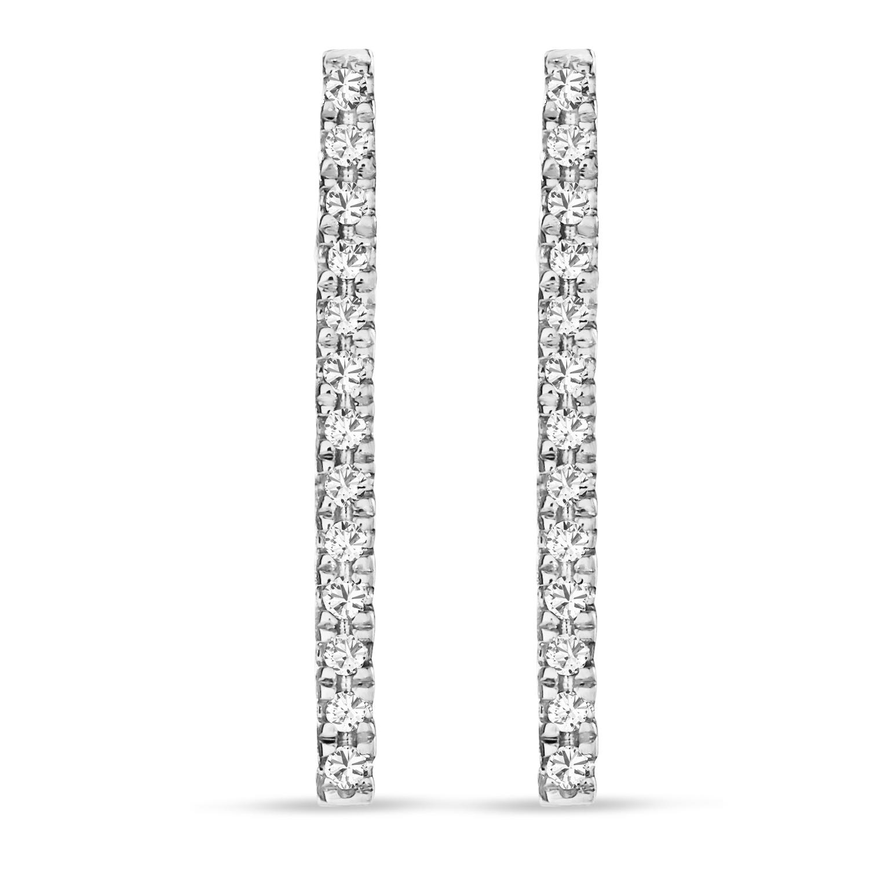 Diamond Bar Earrings 14k White Gold (0.10ct)