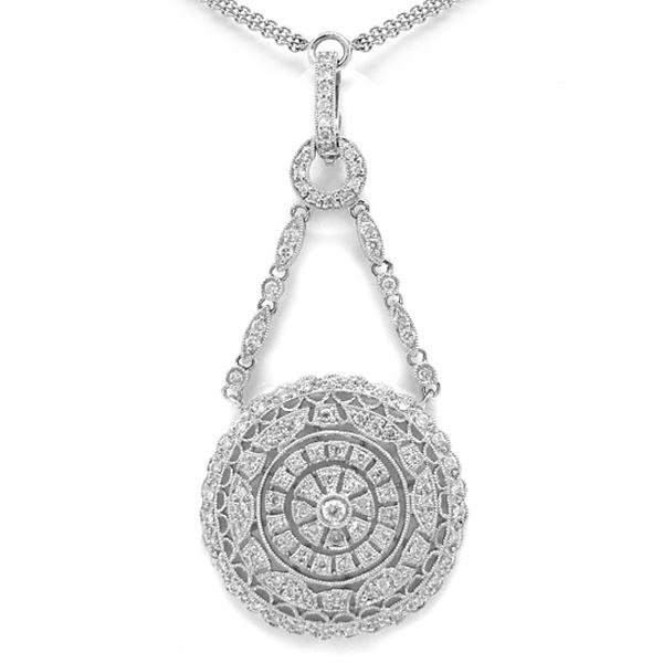 1.00ct 14k White Gold Diamond Fancy Necklace
