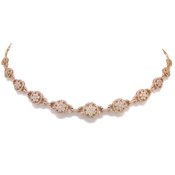 5.15ct 14k Rose Gold Diamond Necklace