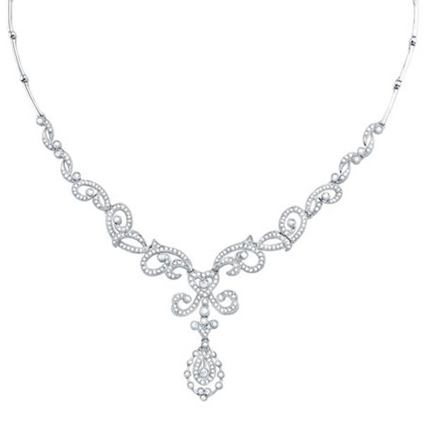 1.55ct 14k White Gold Diamond Necklace