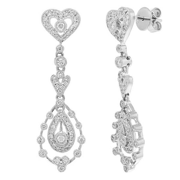 0.73ct 14k White Gold Diamond Earrings