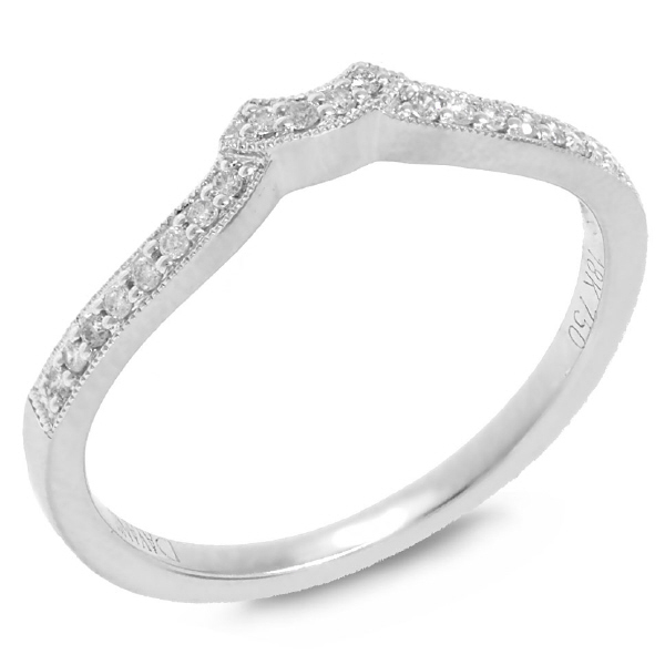 0.10ct 18k White Gold Diamond Diamond Lady's Band