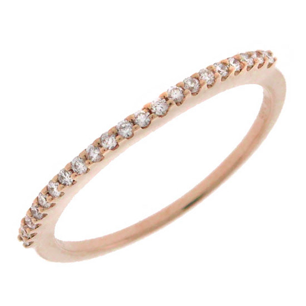 0.15ct 14k Rose Gold Diamond Lady's Band