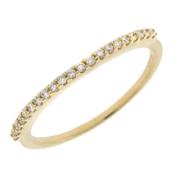 0.15ct 14k Yellow Gold Diamond Lady's Band