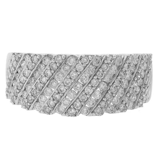 0.95ct 14k White Gold Diamond Lady's Band
