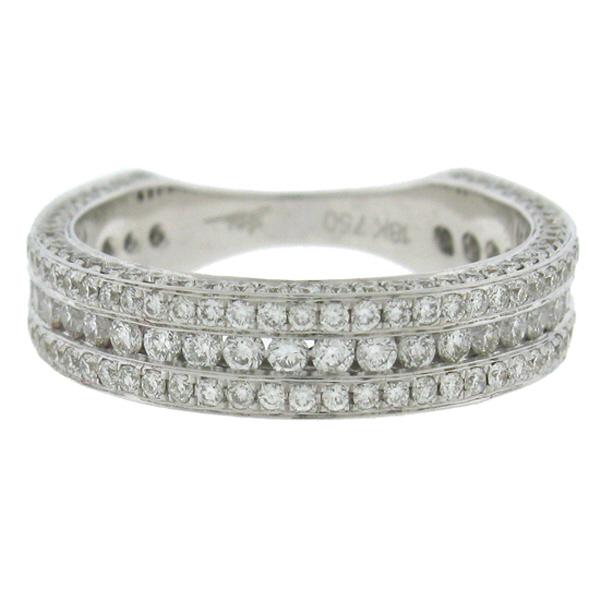 1.40ct 18k White Gold Diamond Lady's Band Size 7