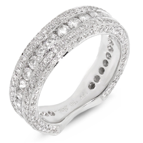 1.75ct 18k White Gold Diamond Lady's Band Size 5.5