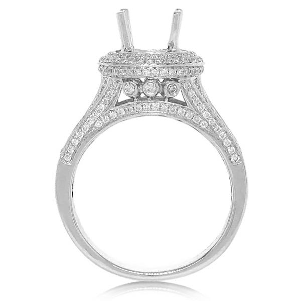 1.50ct 14k White Gold Diamond Semi-mount Ring