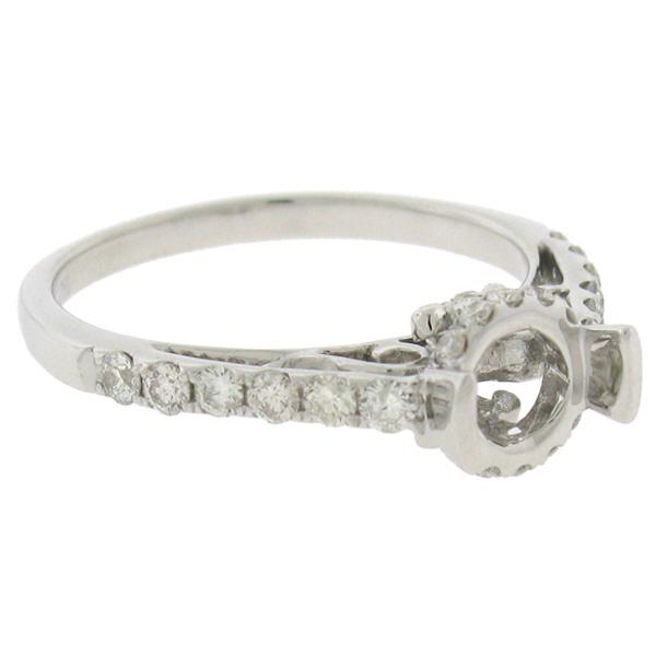 0.44ct 18k White Gold Diamond Semi-mount Ring