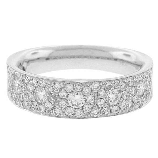 0.80ct 14k White Gold Diamond Lady's Band