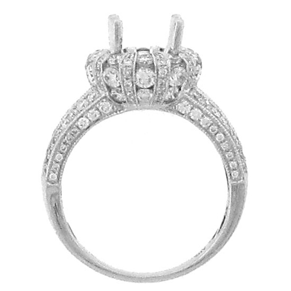1.80ct 18k White Gold Diamond Semi-mount Ring