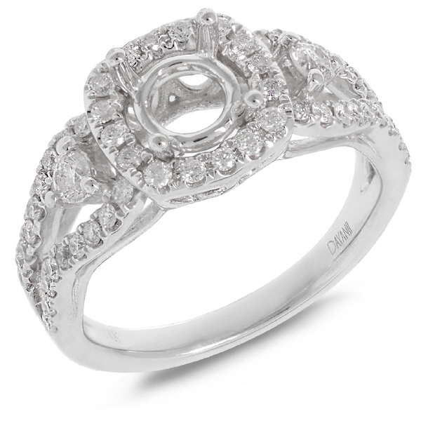 0.70ct 18k White Gold Diamond Semi-mount Ring