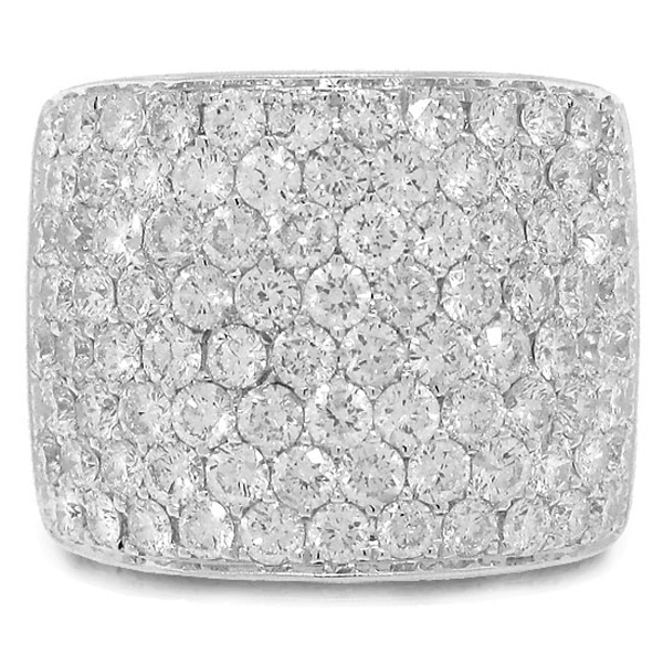 3.75ct 14k White Gold Diamond Pave Lady's Ring