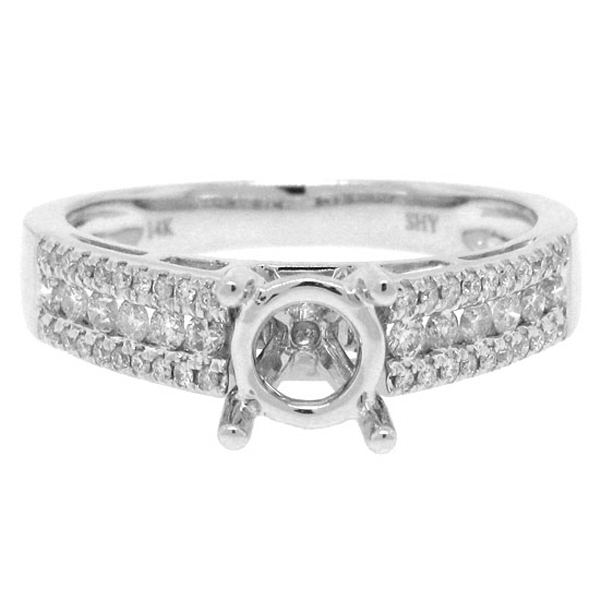 0.35ct 14k White Gold Diamond Semi-mount Ring