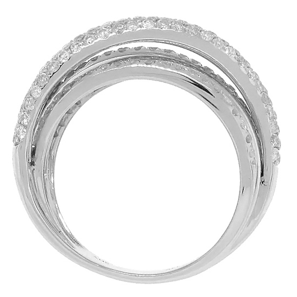 1.75ct 14k White Gold Diamond Bridge Ring