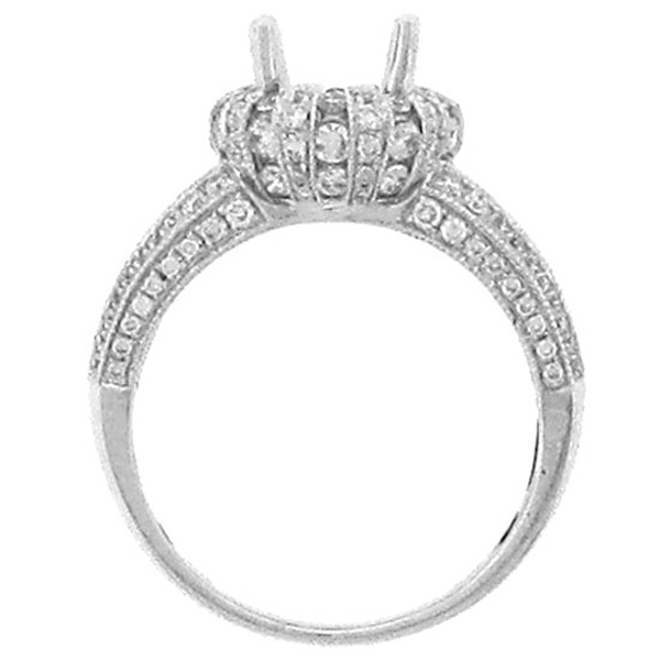 1.25ct 14k White Gold Diamond Semi-mount Ring
