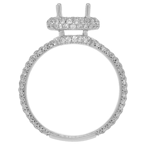 1.01ct 18k White Gold Diamond Semi-mount Ring