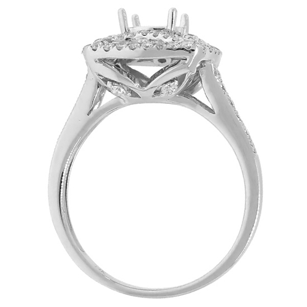 0.66ct 14k White Gold Diamond Semi-mount Ring