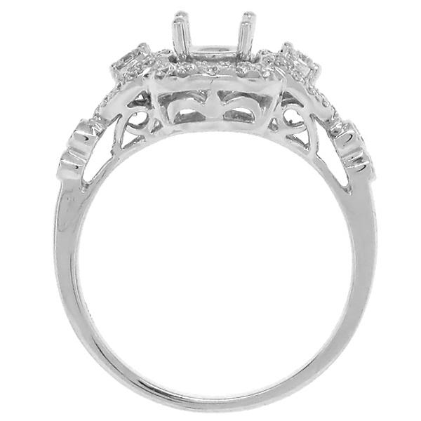 0.35ct 14k White Gold Diamond Semi-mount Ring