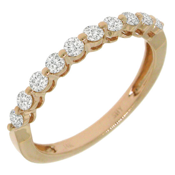 0.47ct 14k Rose Gold Diamond Lady's Band
