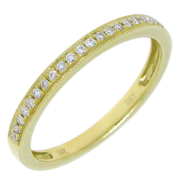 0.12ct 14k Yellow Gold Diamond Lady's Band