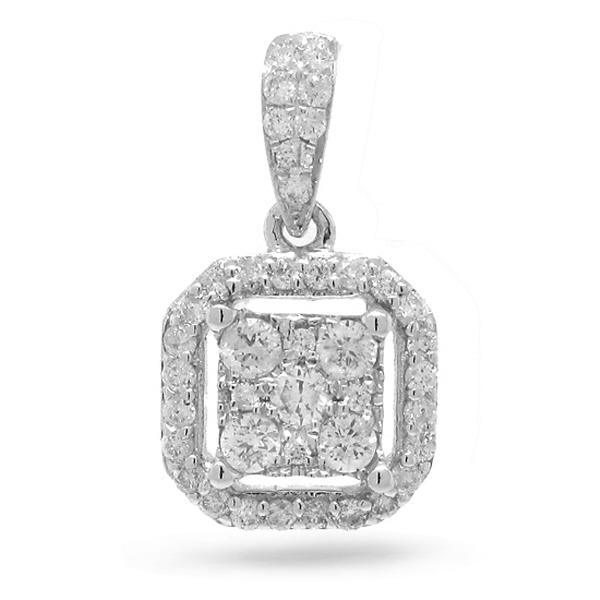 0.29ct 14k White Gold Diamond Pendant Necklace