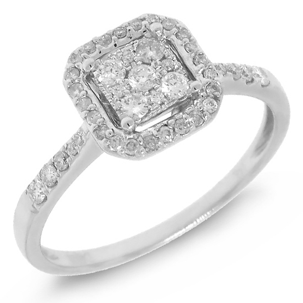 0.31ct 14k White Gold Diamond Lady's Ring