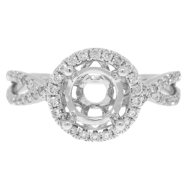 0.36ct 14k White Gold Diamond Semi-mount Ring