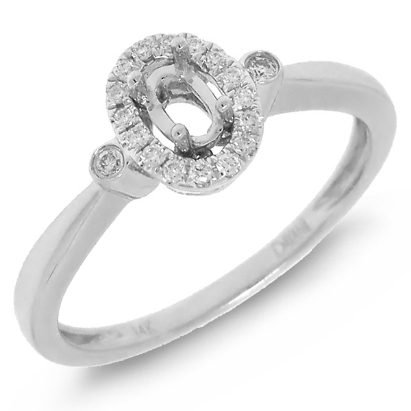 0.11ct 14k White Gold Diamond Semi-mount Ring