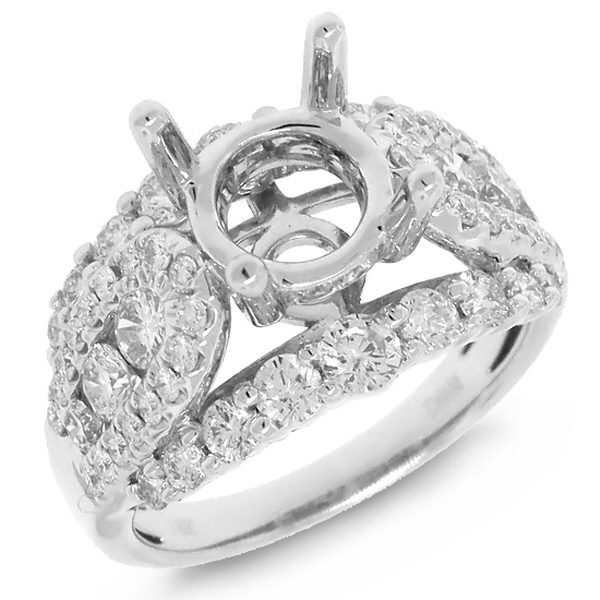 1.70ct 18k White Gold Diamond Semi-mount Ring