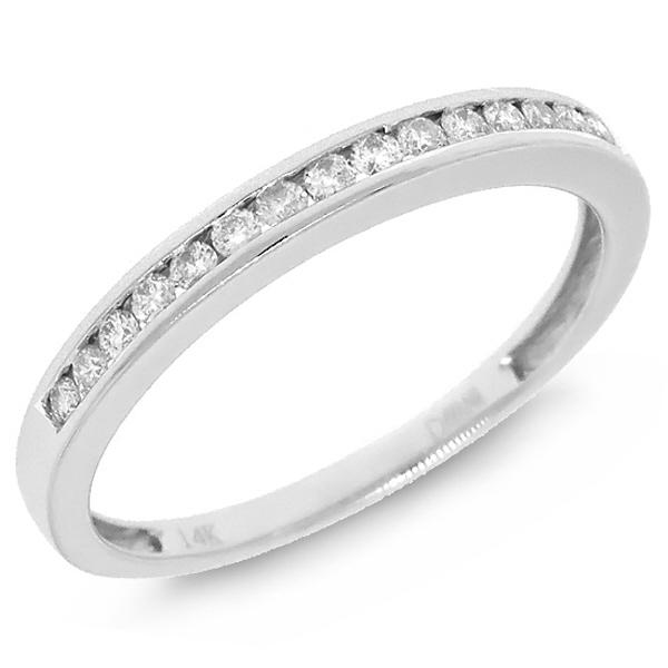 0.19ct 14k White Gold Diamond Lady's Band