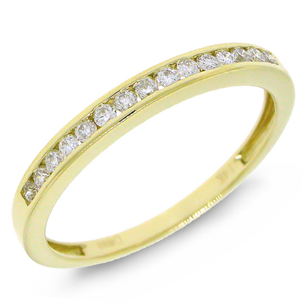 0.19ct 14k Yellow Gold Diamond Lady's Band