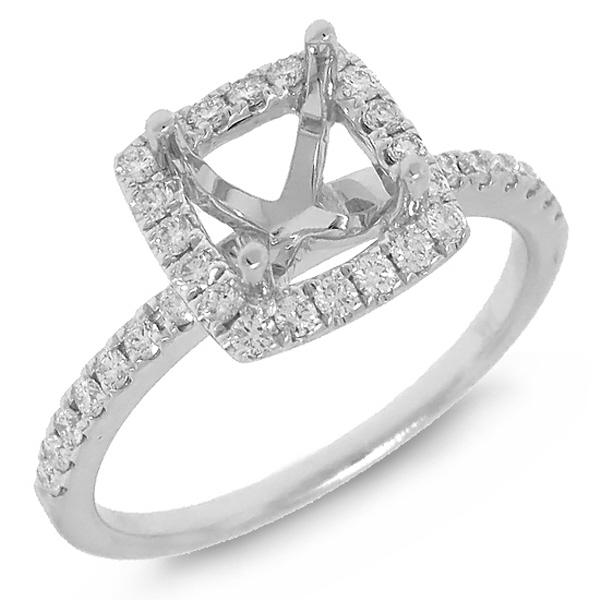 0.34ct 14k White Gold Diamond Semi-mount Ring