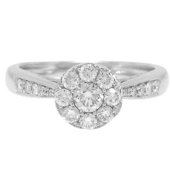 0.58ct 14k White Gold Diamond Lady's Ring