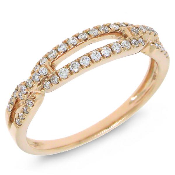 0.23ct 14k Rose Gold Diamond Lady's Ring