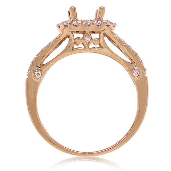 0.50ct 14k Rose Gold Diamond Semi-mount Ring