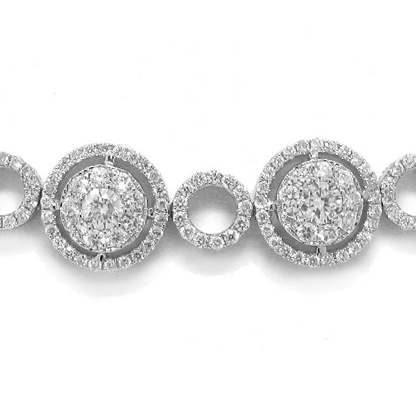 7.92ct 14k White Gold Diamond Necklace