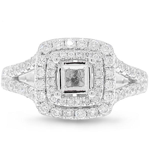 0.64ct 14k White Gold Diamond Semi-mount Ring