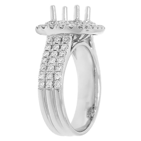 1.00ct 18k White Gold Diamond Semi-mount Ring