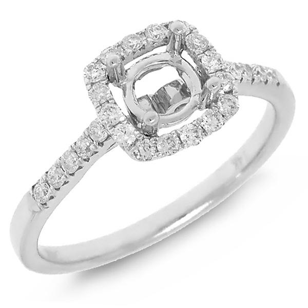 0.30ct 14k White Gold Diamond Semi-mount Ring