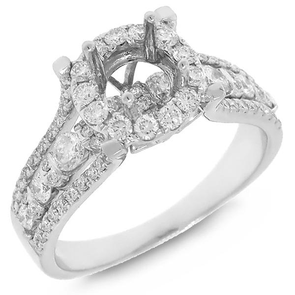 1.02ct 14k White Gold Diamond Semi-mount Ring