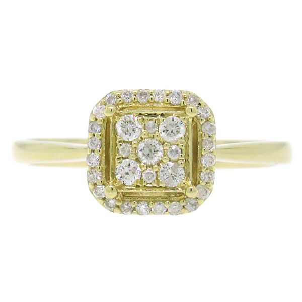 0.20ct 14k Yellow Gold Diamond Lady's Ring
