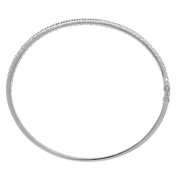 0.90ct 14k White Gold Diamond Bangle